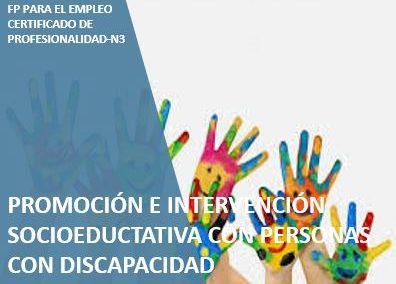 Promoción e Intervención socioeducativa con Personas con Discapacidad